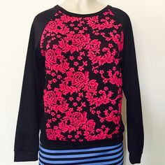 Beautiful floral design top Gorgeous floral design top . Looks great for all times . Measurements lying flat .                           S- Bust: 18, hips :15.5 , length :23, sleeves :25.5 M-Bust: 19, hips :16.5 , length :23, sleeves :26.5 L- Bust: 21, hips :17.5 , length :23, sleeves :27.5.   Same top available in color blue Tops Crop Tops