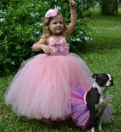 Pink Dream Fluffy Flower Girl Tutu Dress for Weddings, Pageants, Photos, Birthdays