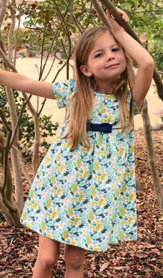 Digital DRESS and BLOUSE PATTERN FOR GIRLS-- The Mia and Moi Pattern  -pattern includes 6 SIZES -TO FIT GIRLS AGES: 3, 4, 5, 6, 7 and 8  This