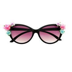 Cute Flowers Designer Fashion Style Retro Cat Eye Sunglasses C88 – FREYRS - Beautifully designed, cheap sunglasses for men & women