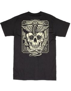 Lucky 13 t shirt LOUD FAST Hot Rod Motorcycle Tattoo skull winged wheel #Lucky13 #GraphicTee