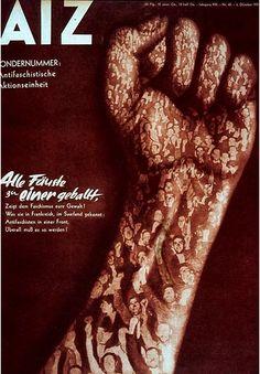 """Heartfield  """"Arbeiter illustrierte"""" photomontage"""