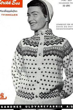 Livs Lyst: *NORDKAPP*. GRATIS MÖNSTER Embroidery Patterns, Knitting Patterns, Knitting Ideas, Tapestry Weaving, Vintage Knitting, Knitwear, Knit Crochet, Men Sweater, Retro