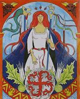 Thrud, is a goddess of the Nordic mythology, She the daughter of Thor and Sif, is the goddess of willows, trees, flowers and grass.