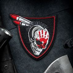 """Go Savage with the Modern Arms """"Native Warrior"""" Series. Original Design and Expert Embroidery make MA Patches perfect for your jacket, hat or range gear! Funny Patches, Velcro Patches, Cool Patches, Police Patches, Pin And Patches, Jacket Patches, Tactical Patches, Tactical Gear, Tactical Clothing"""