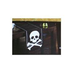 "Halloween Skull & Crossbones Black 54"" Table Runner Happy Halloween http://www.amazon.com/dp/B00AWX1FA4/ref=cm_sw_r_pi_dp_vidfub0K6QFV6"