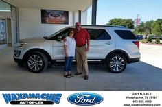 https://flic.kr/p/HzcWwF | Congratulations Shelly on your #Ford #Explorer from J David Thornhill at Waxahachie Ford! | deliverymaxx.com/DealerReviews.aspx?DealerCode=E749