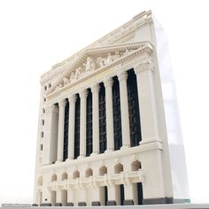 New York Stock Exchange building, New York City, USA.1903, Architects: Trowbridge Livingston; George B. Post; LEGO model by Sean Kenney; More info about NYSE @ http://en.wikipedia.org/wiki/New_York_Stock_Exchange