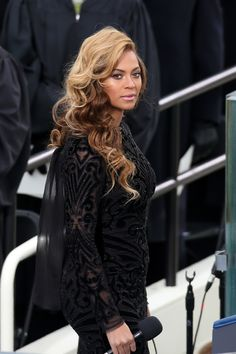 Then made this face. | The 22 Most Fabulous Beyoncé Moments From The Inauguration