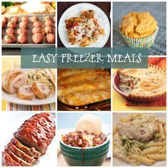 easy freezer meals-I like these recipes on here! Great meals to make ahead and freeze for post-birth!