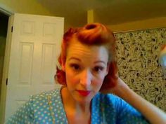 Victory rolls on short hair, by LisaFreemontStreet