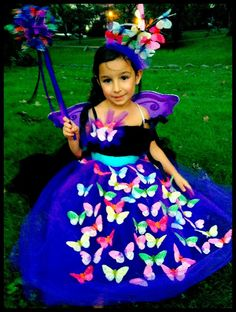 Butterfly fairy halloween costume simple tulle apron over a no sew a round up of 25 terrific diy halloween costumes for kids you can actually make yourself at home some of them are even no sew costumes solutioingenieria Image collections