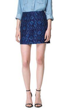 Imagem 2 de SAIA MINI JACQUARD da Zara