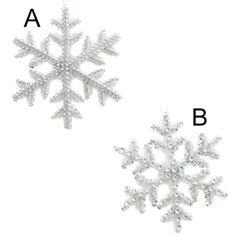 Silver Stud Trim Snowflake