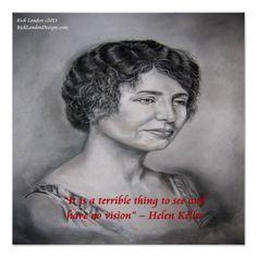 #Helen Keller & #Vision #Quote #Poster by @RLondonDesigns #zazzle #wallart #art #decor #homedecor #gift #sale