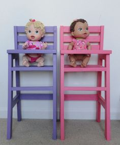 Doll High Chairs   Do It Yourself Home Projects from Ana White