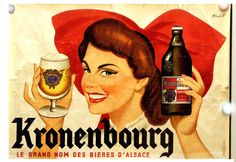 "All sizes | Anciènne publicité pour les Bières ""Kronenbourg"" de 1951. 