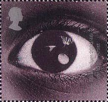 British Stamp 2000 - 1st, Eye (Year of the Artist) from Millennium Projects (12th Series). 'Sound and Vision' (2000)