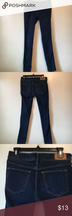 DARK BLUE DENIM JEANS 💫 Skinny Low Waist Jeans, Barely worn, Size 28/32 H&M H&M Jeans Skinny
