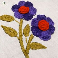 New Photos hand embroidery flower design Style Hand Embroidery Flower Designs, Hand Embroidery Videos, Embroidery Stitches Tutorial, Embroidery Flowers Pattern, Creative Embroidery, Learn Embroidery, Crewel Embroidery, Embroidery Techniques, Cross Stitch Embroidery