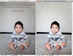 the maternal lens: {before & after} editing fun!