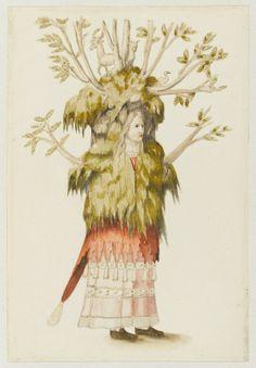 Masques, mascarades, mascarons au Musée du Louvre. Entourage de Francesco Primaticcio, dit Primatice, Personnage costumé en bosquet ou en forêt, Paris, Musée du Louvre. (c) DR