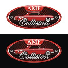 AMF collision - auto body logo auto restoration, older people, collision repair, all ages, large equipment and fleet repairs. Facebook Cover Design, Collision Repair, Car Logos, Professional Business Cards, Business Card Logo, Custom Logos, Restoration, People, People Illustration