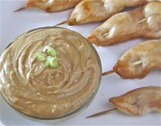 Chicken Satay with Zesty Peanut Butter Dip