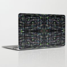Green Lights At Night Laptop & iPad Skin by Artsy Craftery Studio - $30.00