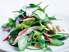 // Vietnamese Chicken Salad. Fish sauce and mint leaves? I'm intrigued.