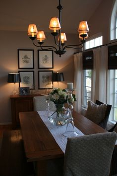 lovely dining space
