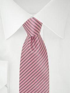 Rosa grau gestreifte Krawatte