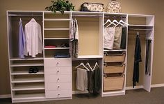 I like the bins, drawers & shelves in addition to the customizable hanging cubbies, BUT, can this be customized to a square/rectangular closet, or is it only available for straight walls?