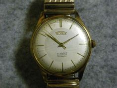 Technos テクノス アンティーク腕時計21石手巻きゴールド訳あり Watch Antique ¥5000yen 〆06月02日