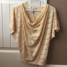 Max studio shear yellow top Cute, light weight perfect for spring/summer! I wore a white tank top underneath. Tops