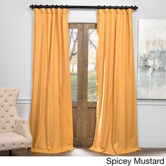 Exclusive Fabrics Solid Cotton True Blackout Curtain (