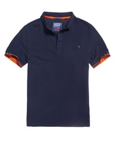 227f37233 Mens - City Jaquard Pique Polo Shirt in Riviera Navy
