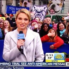 Photo-bombing @goodmorningamerica in NYC this morning. You're welcome, America. #BigDawgsTour #GoDawgs #BIGEASTtourney
