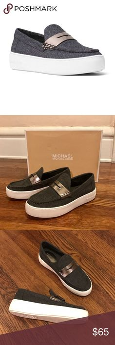 """Michael Kors """"Poppy"""" Slip Ons Only worn ONE time, but are too big on me.  • No Trading  • Reasonable Offers are Always Welcomed  • Like New- please do not make extremely low offers Michael Kors Shoes Flats & Loafers"""