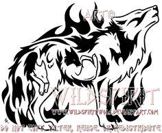 Flaming Emotion Wolf Tattoo by WildSpiritWolf on deviantART