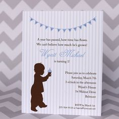 1st Birthday Invitation Cupcake Baby Boy