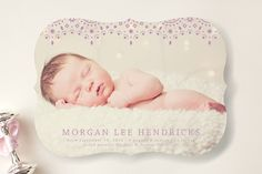 So Delicate Birth Announcements by Dulce Dahlia at minted.com