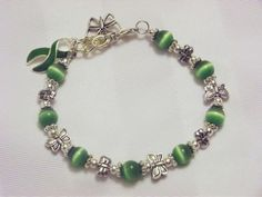 Green awareness butterfly bracelet!!!