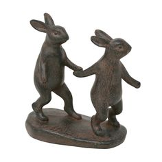 The Sagebrook Home Brown Resin Bunnies Holding Hands is a charming addition to a child's room or just to add sweetness to your modern décor. Decorative Objects, Decorative Pillows, Charmed Characters, Cute Bunny, Bunny Rabbit, Rabbit Hole, Pet Memorials, Hand Designs, Joss And Main
