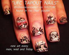 tapout UFC nail art tutorial  http://www.youtube.com/playlist?list=PLB5E476D76D74FD9E