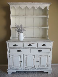 Chippy White Distressed Farmhouse Hutch See Black In Homepage