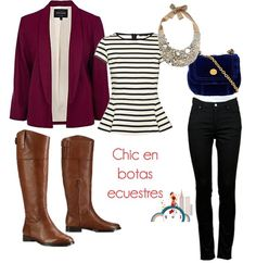 Working outfit with riding boots // Look para ...