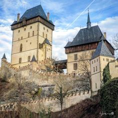 Karlštejn Castle - large Gothic castle founded in 1348 by Charles IV, Holy Roman Emperor - elect and King of Bohemia. Czech Republic @hrad_karlstejn on IG