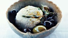 Goat Cheese with Olives, Lemon, and Thyme Recipe