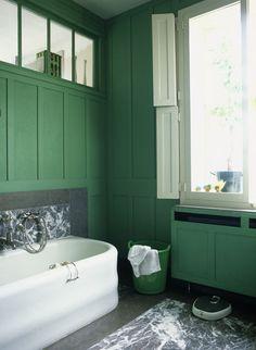 Interior Alchemy #green #bathroom